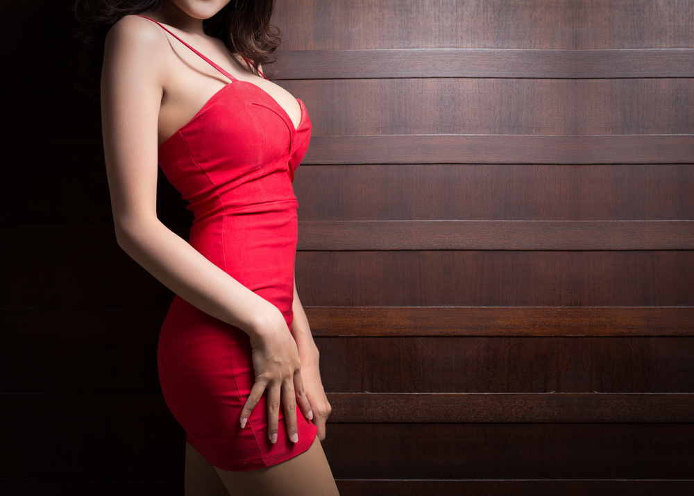 london escort in red dress